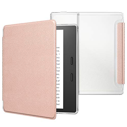 MoKo Case Fits All-New Kindle Oasis (9th and 10th Generation ONLY, 2017 and 2019 Release), Slim Lightweight Cover with Translucent Frosted Back Protector