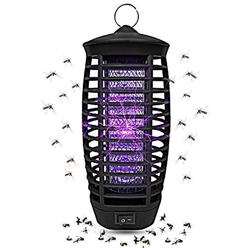 Wanqueen 2019 Upgraded Bug Zapper, Indoor Outdoor Electronic Insect Killer with UV Light, Mosquito Trap, Fly Pests Catcher Lamp (Black)