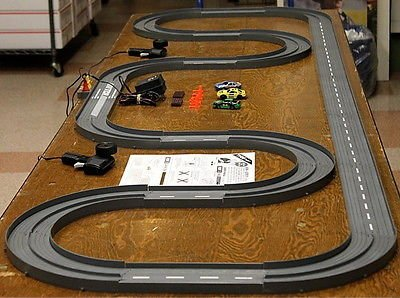 1993 UNUSED TYCO TCR Slotless Slot Car Total Control RACE SET 20ft Track