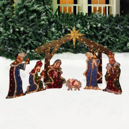 Holiday Time Nativity Sculpture 7 Piece