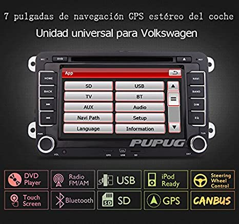 EinCar DVD Player CD GPS Navigation Bluetooth Touch Screen Radio 2 Din Stereo for VW / Volkswagen / Passat / GOLF / Skoda / Seat 7 Inch Head Unit Free ...