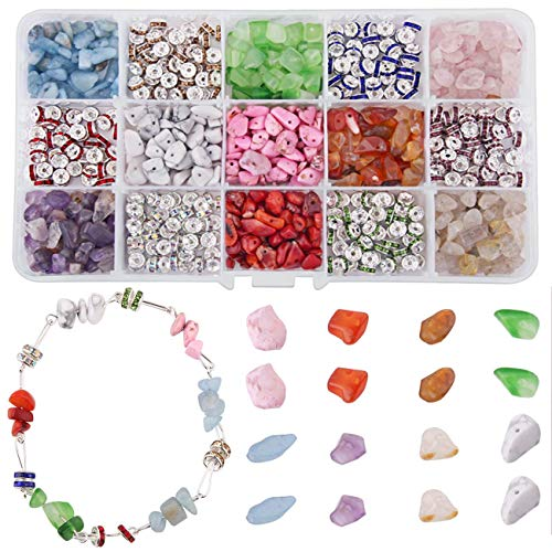 8 Stones Natural Irregular Shaped Nugget Loose Beads Energy Stone for Jewelry Making 5-8mm NBEADS 1 Box Gemstone Chips Beads