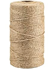 328 Feet Natural Jute Twine Best Arts Crafts Gift Twine Christmas Twine Durable Packing String for Gardening Applications