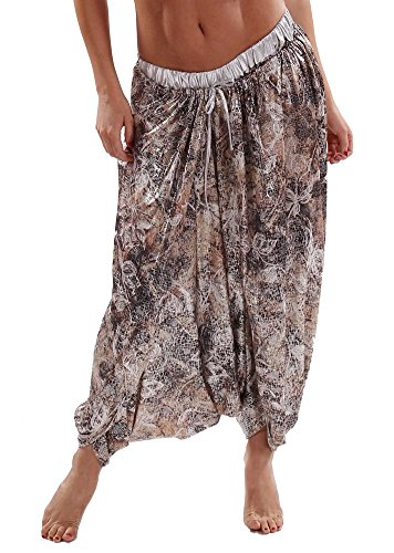 [Belly Dance Wrap-Around Harem Pants | Jenga - Dark Silver] (Bollywood Costumes For Men)