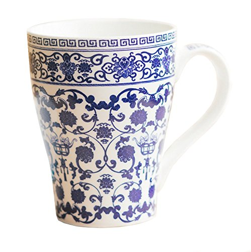 Blue And White Porcelain Coffee Mug Tea Cup - Fine Bone China Mug Gift