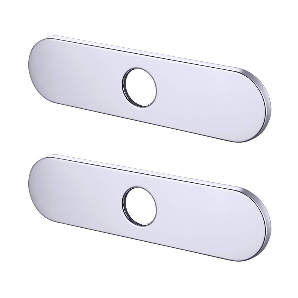 KES 10-Inch Kitchen Sink Faucet Hole Cover Deck Plate Escutcheon Polished Finish PEP3S26
