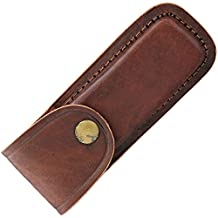 5 Inch Brown Leather Knife Sheath