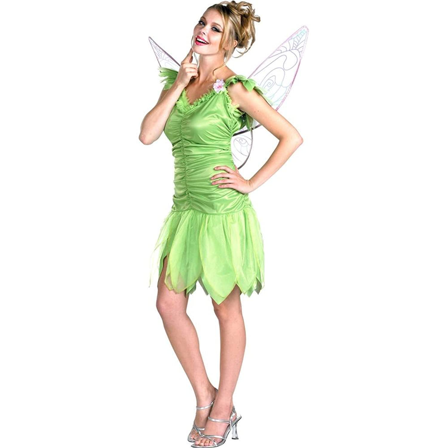 Amazon.com Disney Fairies Tinker Bell Young Adult Costume size 12-14 Clothing  sc 1 st  Amazon.com & Amazon.com: Disney Fairies Tinker Bell Young Adult Costume size 12 ...