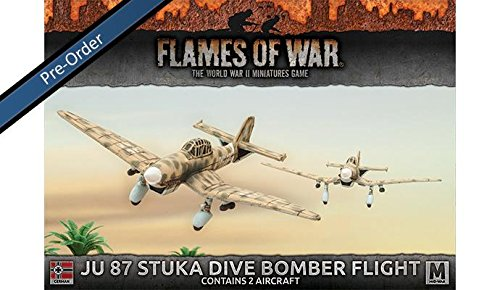 87 Bomber Stuka Dive Ju - Flames of War: Mid War: German: JU 87 Stuka Dive Bomber Flight