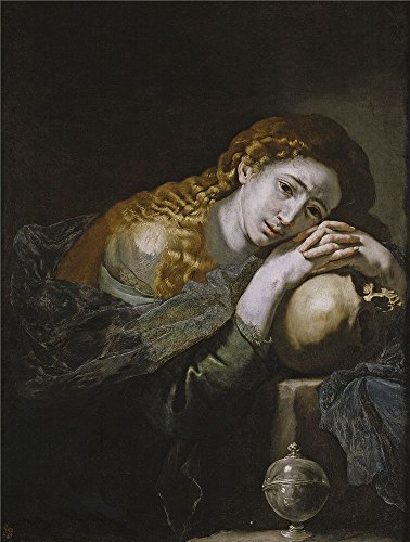 Canvas Prints Of Oil Painting ' Ribera Jose De Penitent Mary Magdalene Ca. 1637 '