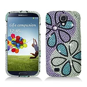 Bloutina Aimo SAMSIVPCLDI683 Dazzling Diamond Bling Case for Samsung Galaxy S4 - Retail Packaging - Blue/Purple