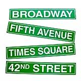 New York City Street Sign Cutouts