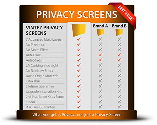 VINTEZ 24 Inch - Gold - High Clarity - Computer Privacy Screen Filter for  Widescreen Computer Monitor - Anti-Glare - Anti-Scratch Protector Film for