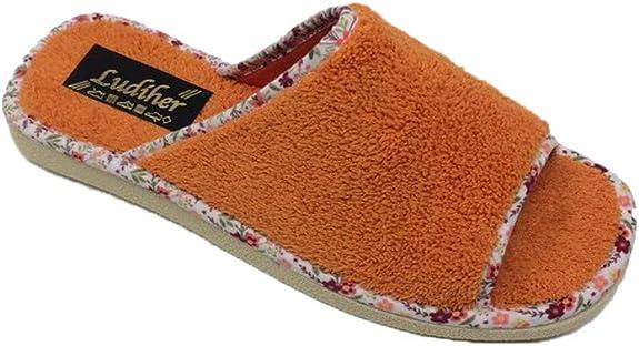 Zapatillas de Estar por casa//Mujer//Ludiher//Algodón Rizo//3 Colores