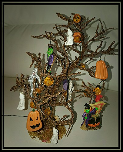 Lemax Spooky Town Collection Decorated Halloween Tree 34934A]()