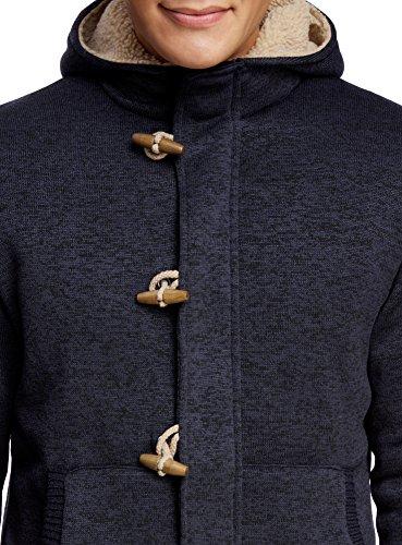 7900m Ultra Giacca In Uomo Caldo Oodji Dettagli Jersey Blu Con Pelliccia Finta 1ZaZ5qx