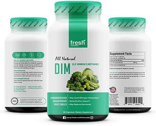 DIM Supplement 500mg - DIM Diindolylmethane - All Natural Estrogen & Hormone Balance Supplement Great for Detox, Menopause Relief, Acne, PCOS, Weight Loss & Bodybuilding – Vegan Friendly 8
