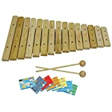D'Luca XL15A 15 Notes Wood Xylophone with Music Cards