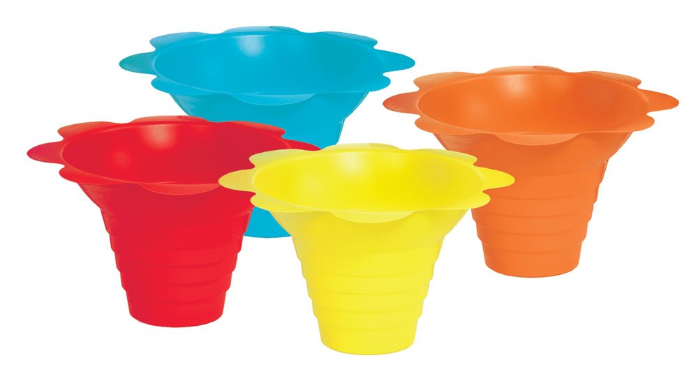 Paragon 4-Ounce SNO-Cone Flower Drip Tray Cups, Multicolor, 100-Cup Case