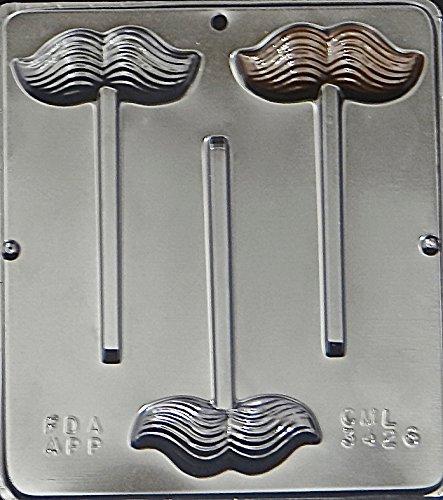 Mustache Lollipop Chocolate Candy Mold Moustache 3426