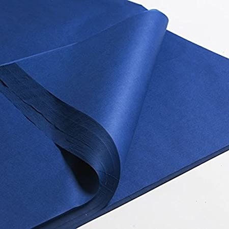 Sheets of Acid Free Premium Luxury Navy Blue Tissue Paper Ream 18 x 28 450mm x 700mm Free Fast Delivery REALPACK/® 200x 100x 50x 100
