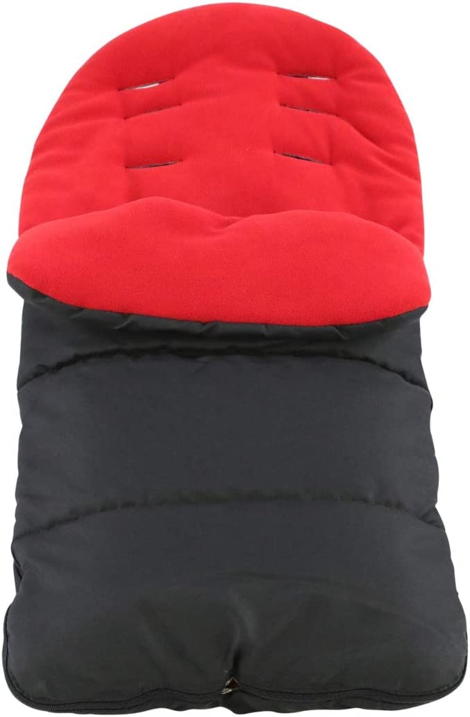 FYLO Premium Footmuff//Cosy Toes Compatible with Obaby Apollo Twin Fire Red