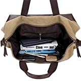 Yangjiaxuan Portable Canvas Travel Bag Shoulder Diagonal Large-Capacity Duffel Bag (Color : Khaki)