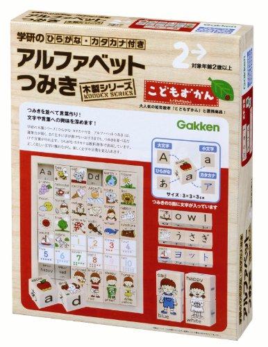 Wooden Hiragana, Katakana series with alphabet blocks (japan import) by Gakken by Gakken