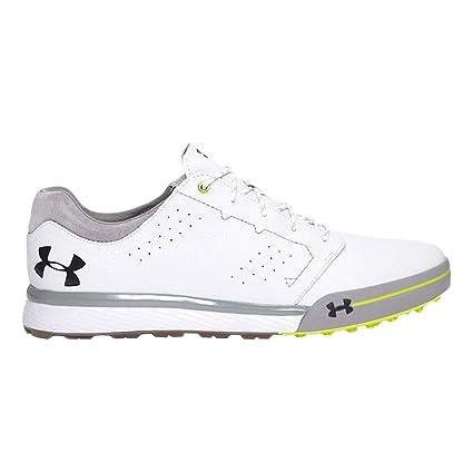 986c03207be0a7 Amazon.com: Under Armour Men's Tempo Tour Hybrid Golf Shoes White/Hi-Vis  Yellow 7 M: Sports & Outdoors