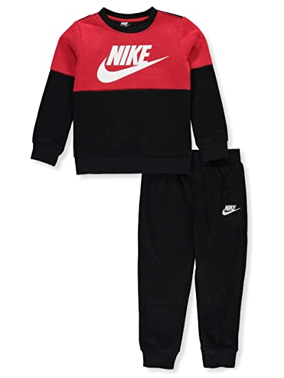 3129dd273578 Amazon.com  Nike Boys  2-Piece Sweatsuit Pants Set - Black