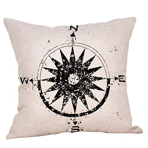 Sofa Pillow Cover,EOWEO Cotton Linen Square Home Decorative Throw Pillow Case Sofa Waist Cushion Cover from EOWEO