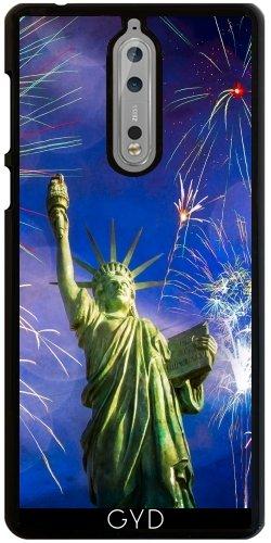 Funda para Nokia 8 - Fuegos Artificiales Libertad De La Señora by J McCool