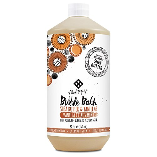 Alaffia - EveryDay Shea - Moisturizing Shea Butter Bubble Bath, Vanilla-Citrus-Mint, 32 Ounces (FFP) (Citrus Shower Gel Mint)
