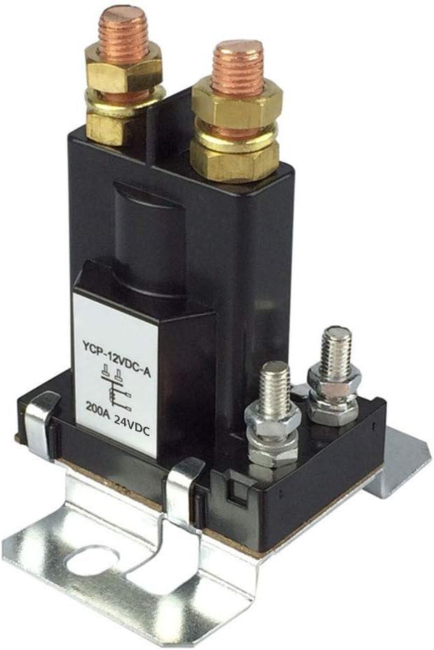 CXZC Relé de Arranque de Alta Corriente 200Amp DC 24V 4 Pin SPST Contactor de Arranque automático para automóvil Interruptor de Encendido/Apagado del Control del aislador de baterías Dobles