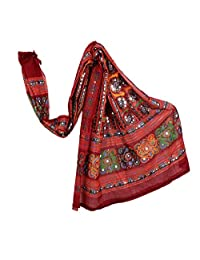 Traditional Cotton Long Women's Kutch Work Cotton Dupatta Embroidery Floral Stole Veil Stole Hijab Sarong …