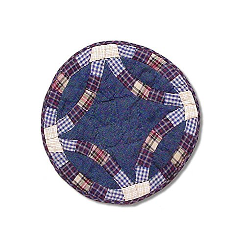(Patch Magic 19-Inch by 13-Inch Blue Dbl Wedding Ring Place Mat)