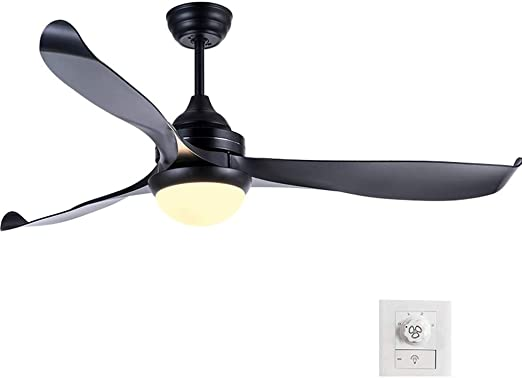 Ventilador de techo ZHAOSHUNLI Luz Luz de Velocidad Ajustable ...