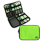 Bubm Universal Cable Organizer Electronics Accessories Case USB Drive Shuttle/ Healthcare & Grooming Kit (Dis Green- Medium)