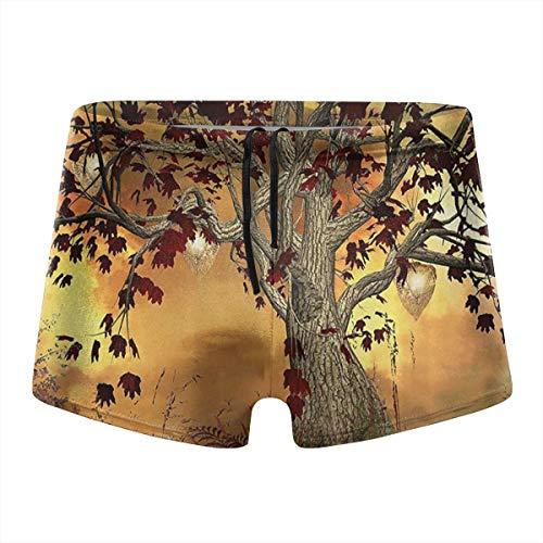 (349tg1u Old Twisted Tree Men's Swim Trunks Shorts Athletic Swimwear Briefs Boardshorts)