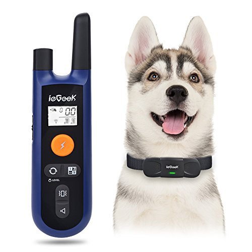 ieGeek Rechargeable Dog Training Collar, Remote Dog Shock Collar with Long Standby Time, Beep/ Vibration/ Shock, Waterproof for Large / Medium / Small Dogs ( Control Up to 9 Collars)