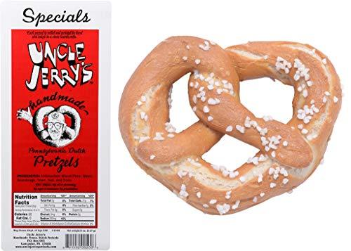Uncle Jerry's Pretzels, Handmade Pennsylvania Dutch Pretzels, 8 oz. Bags (Specials Regular Salt, 2 Bags)