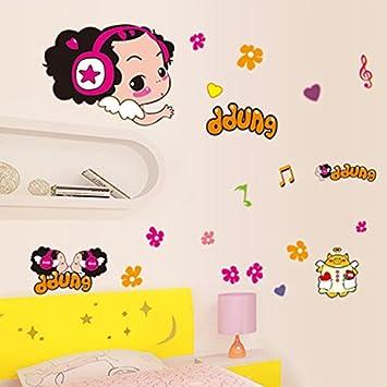 Jintie Abnehmbare Wall Sticker So Verwirrt Puppe Wallpaper Poster An