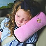 Kasstino Soft Car Child Baby Seat Belt Cushion Auto Shoulder Pad Seat Strap Cover Pillow (Pink)
