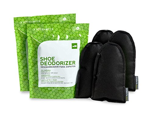 Ever Bamboo Shoe Deodorizer Bag Set w/Natural Bamboo Charcoal (2-50 g, 2 Pack)
