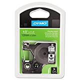 Dymo LabelWriter DUO D1 Flexible Nylon Label Maker Tape, 1/2in x 12ft, Black on White