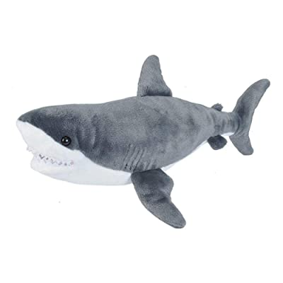 Wild Republic Great White Shark Plush Stuffed Animal Toy, Gifts for Kids, Cuddlekins 20 Inches: Toys & Games