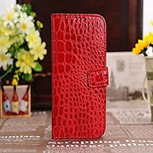 get Luxury Alligator Pattern Wallet Case Wallet Leather Case for Samsung Galaxy S4 I9500 (Assorted Colors) , White
