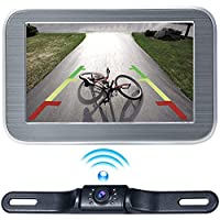 Wireless Backup Camera Monitor System 5 LCD Wireless Monitor Rearview Revering Rear View Back up Camera Backing Parking Car Vehicle 12V Only E5 eRapta