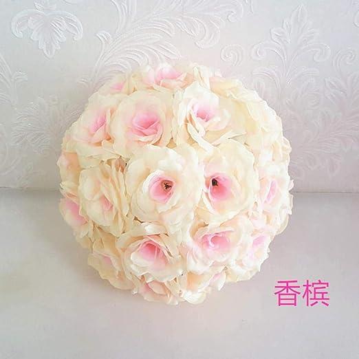 APOO Colgante Decorativo Flor Bola centros de Mesa de Seda Rosa ...