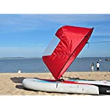 "Dyna-Living 42"" Durable Downwind Wind Sail Sup Paddle Board Instant Popup Kayak Boat Sailboat Canoe Foldable Style"